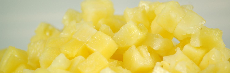 Cube-ananas-surgele