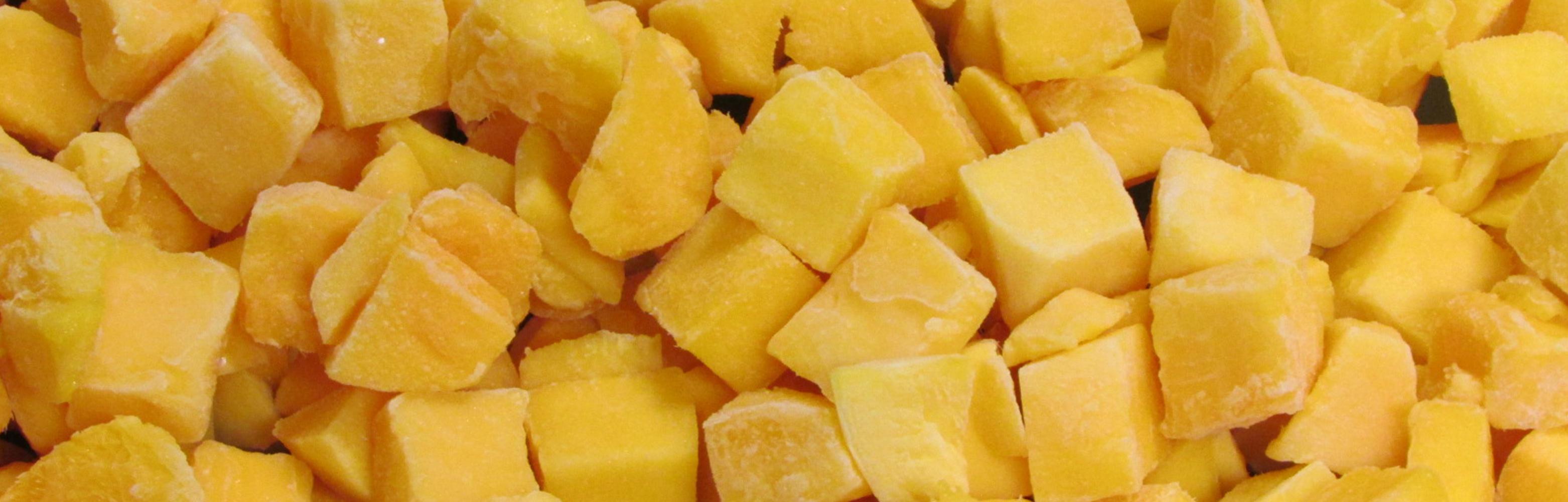 Cube de mangue surgele
